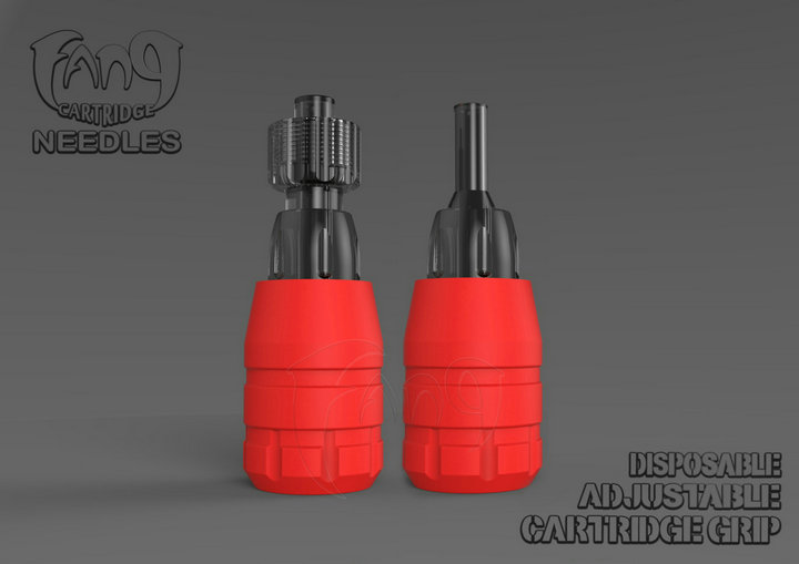 Red FANG™ Disposable Adjustable Tube For Standard Tattoo Machine