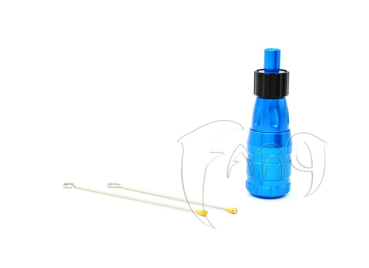 Original FANG™ CNC Aluminum Cartridge Grip Blue