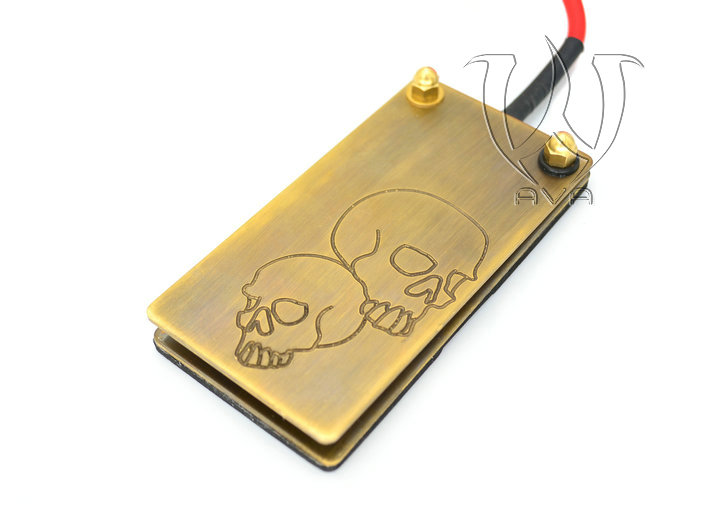 Newest Skull Style AVA Foot Pedal Red