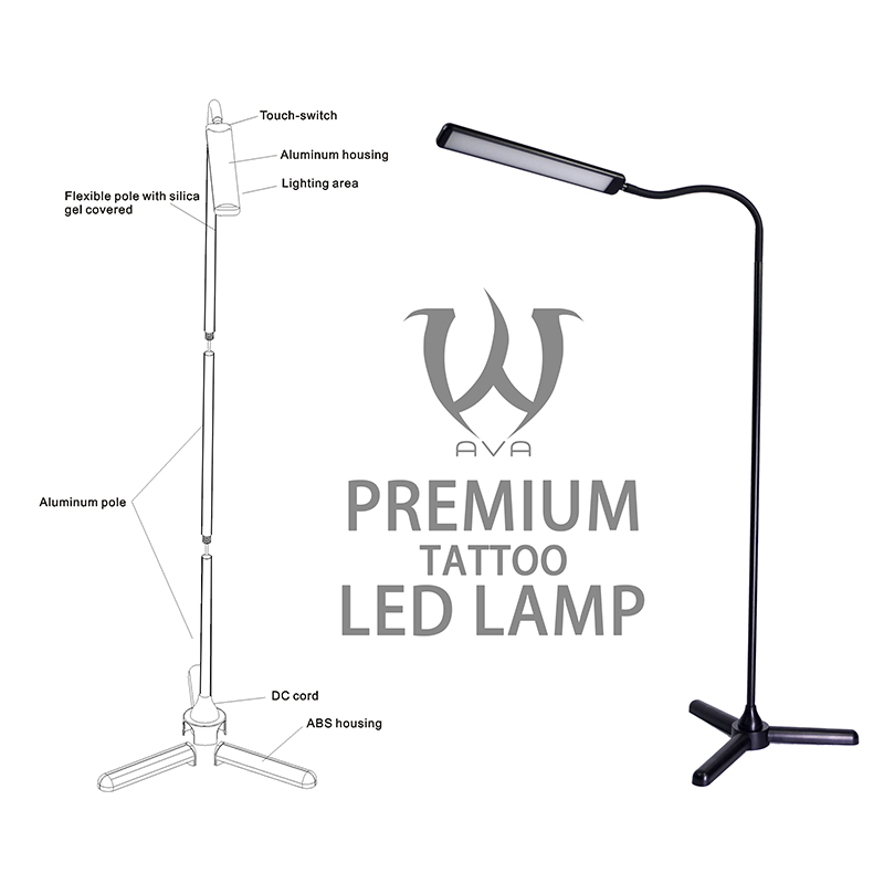 SKULL DNA Premium Aluminum LED Floor Tattoo LAMP
