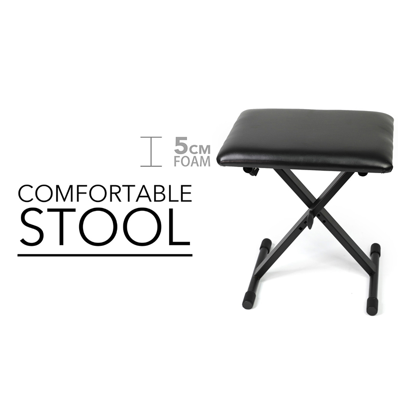 SKULL DNA Adjustable Black Portable tattoo chair(stool)