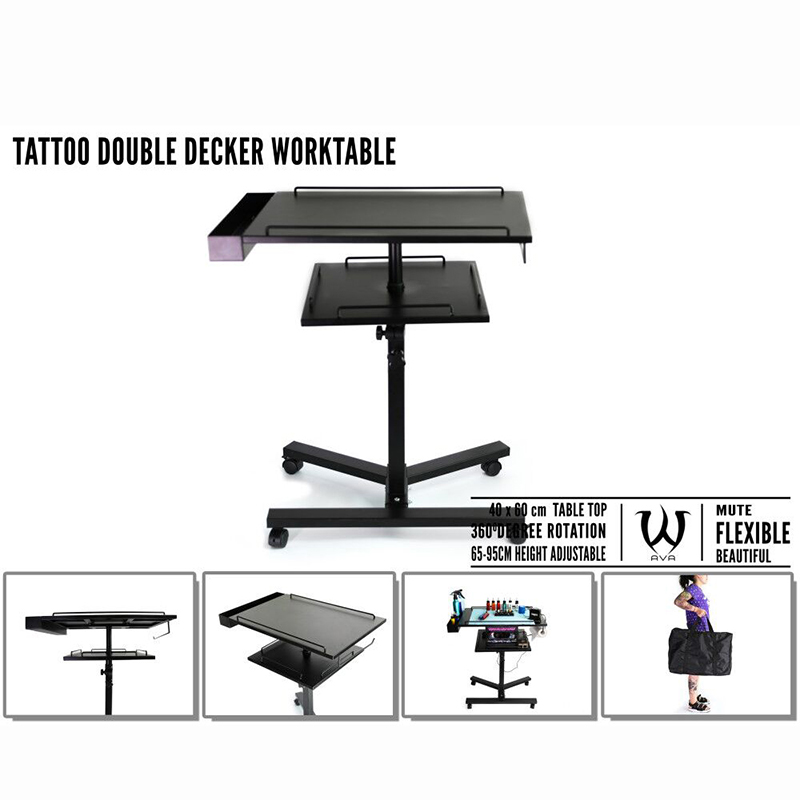 SKULL DNA Stable Double Decker Tattoo Work Table